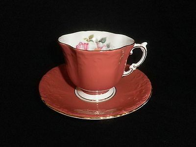Aynsley Vintage Fine English Bone China Cup & Saucer Apple Blossom Motif Excelle