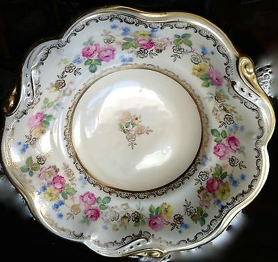 Antique Decorative Bowl Tillowitz Epos Early Prussia Gold Trim 9 Inch