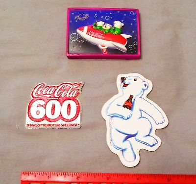 Lot 3 Vintage Coca-Cola Bears Refrigerator Magnets 1990s