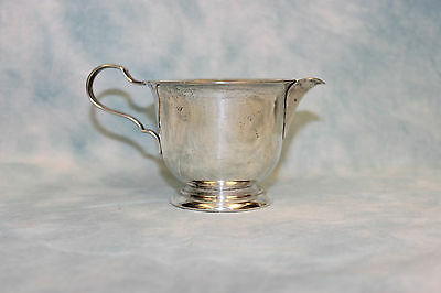 Lunt Sterling Silver Coffee Creamer with Solid Handle #14 Good Cond! 3.18 ozt