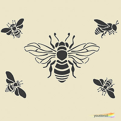 Bumble Bee  #1 Stencil Template:   Scrapbooking, Airbrushing, Art:  ST1A6