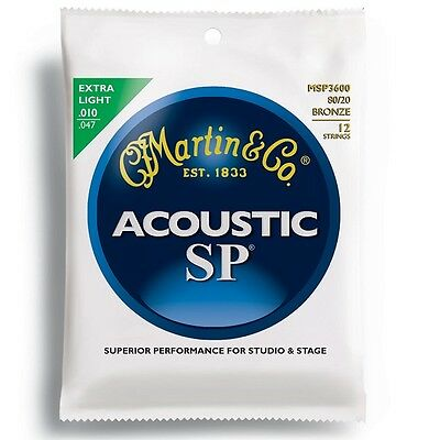 Martin SP 80/20 Bronze Acoustic Guitar Strings (Various Gauges Available)
