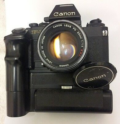 Canon F-1 with AE Flash Prism and Motor Drive