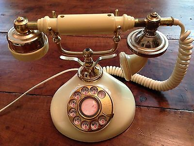 Vintage French Style Sweet Talk Rotary Telephone