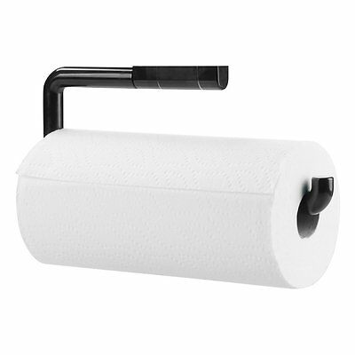 Mdesign Kitchen Paper Towel Holder - Wall Mounted - Black