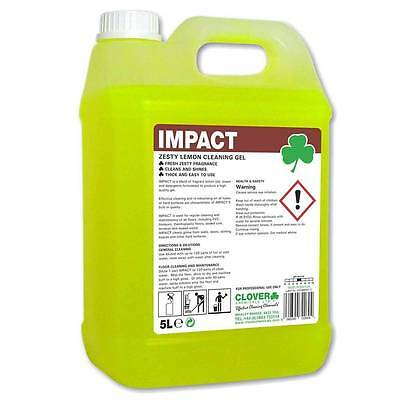 Clover Impact Lemon Floor Gel Low Foam Cleaner Heavy Duty Industry