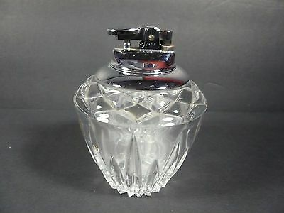 Vintage Princess House Lead Crystal Glass Table Cigarette Lighter