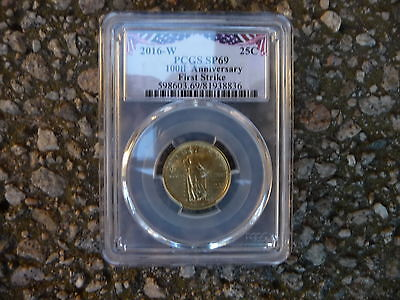 2016 w gold standing liberty quarter PCGS SP 69