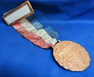 Vintage 1949 New Jersey Knights Of Columbus Medal and Ribbon