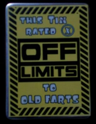 Off Limits stainless steel utility tin