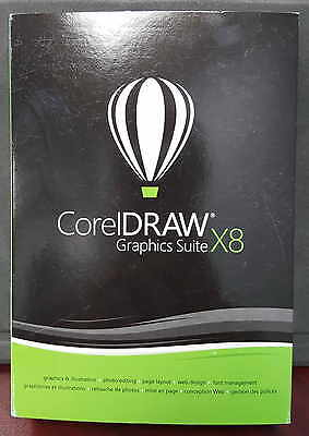 Genuine Corel DRAW CorelDRAW Graphics Suite X8 Full Retail Version with Media