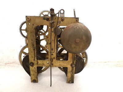 8 Day Sessions BRASS Striking Shelf Clock MOVEMENT--project/parts