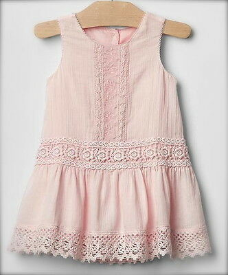 Baby Gap Vintage Light Pink Lace Dress 12-18 Months NWT! VHTF! All Seasons