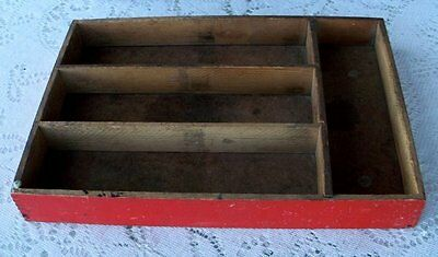 Vintage Painted Silverware/Drawer Organizer Tray * Dovetail Wood