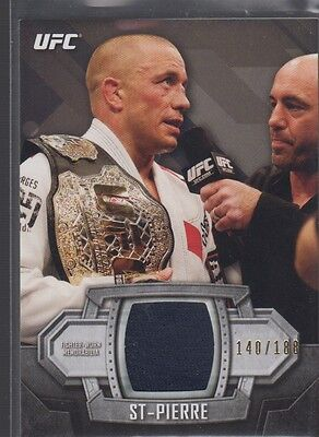 Georges St-Pierre 2014 UFC Knockout Fighter Gear Relic Card 140/188