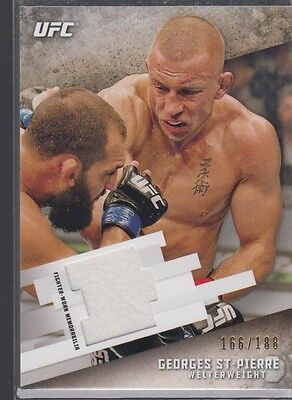 Georges St-Pierre 2015 UFC Knockout Fighter Gear Relic Card 166/188