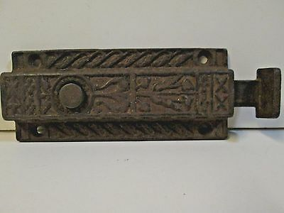 Antique Cast Iron Victorian  Window / Door Latch