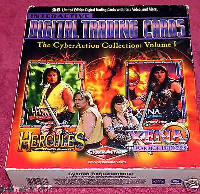 XENA & HERCULES, digital trading cards, CyberAction Collection Vol 1
