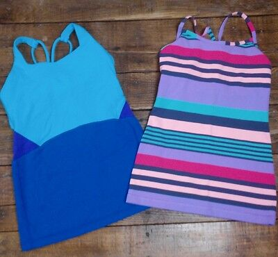 Ivivva by Lululemon GIrls Athletic Tank Tops SIZE 10 Set of Two