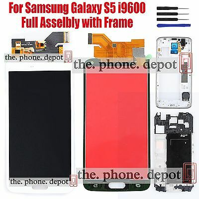 White For Samsung Galaxy S5 i9600 G900F LCD Touch Screen Digitizer Replacement