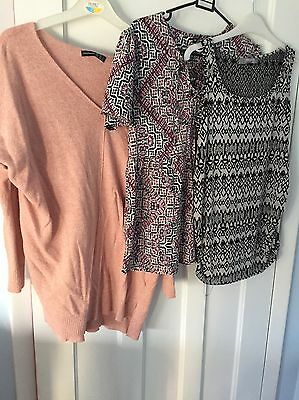 3 x Maternity Top Tops Bundle Size S 8 Clothes New Look