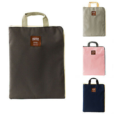 A4 Big Capacity Document Bag Business Briefcase Storage File Folder Papers G9G7