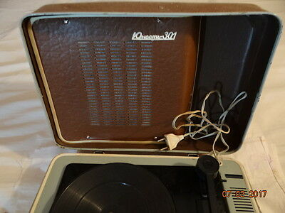 YUNOST turntable 301 in the suitcase WORKING VERY RARE VINTAGE