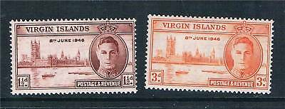 Br Virgin Is 1946 Victory SG 122/3 MNH