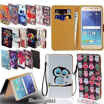 Leather Stand Flip Wallet Cover Phone Case For Various Samsung Galaxy Models