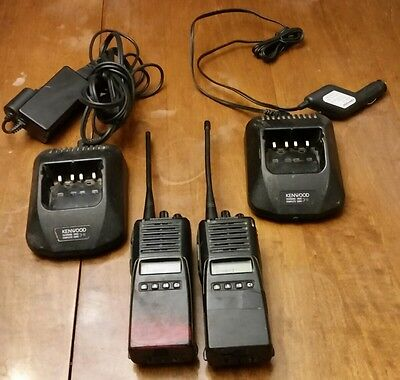 2 Kenwood TK-480 Two Way Radio 800MHz FM Transceiver Ver 2.0 w/ Charges
