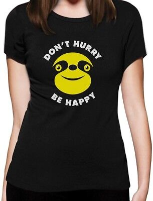 Don/'t Hurry Be Happy Slow Living Sloth Singlet Gift Idea