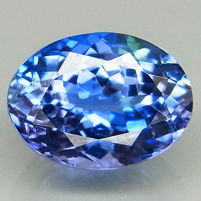 2.32ct.SUPERIOR LUSTER! 100%NATURAL TOP PURPLISH BLUE TANZANITE D BLOCK AAA!