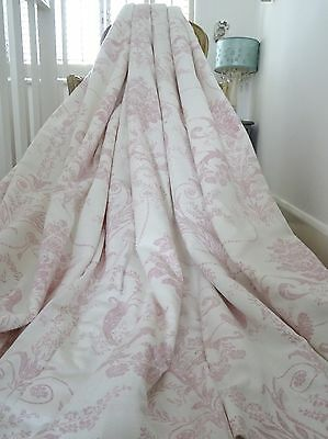 LAURA ASHLEY CURTAINS shabby FRENCH chic JOSETTE filigree TOILE interlined IMMAC
