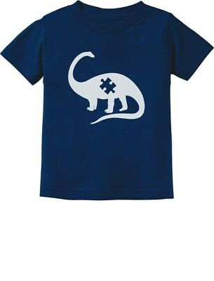Puzzle Dinosaur - Autism Awareness Toddler/Infant Kids T-Shirt Support The Cause