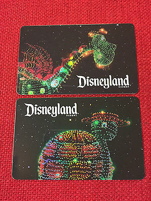 2 New Disney/disneyland 2017 Gift Cards Tickets Southern California Only Limited