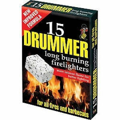 57029H [570295] Drummer White Firelighters PACK OF 8 DNA
