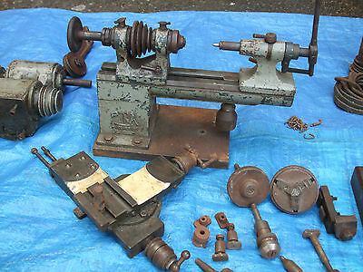 Pultra Instrument Makers Lathe - War Time  With Working Mardrive Clutch/motor