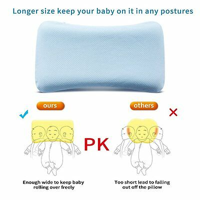 Soft Memory Foam Baby Pillow for Newborn Sleeping Prevent Flat Head And Neck