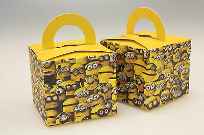 20% OFF !!   24  MINIONS  Single Cupcake / Birthday Party  Boxes