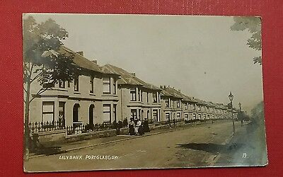 VINTAGE POSTCARD - LILYBANK, PORT GLASGOW, CLYDE - EARLY 1900's ( a)