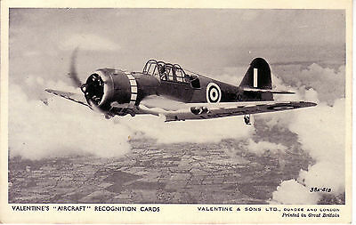 Ww2 Raf Aircraft Miles Master B&w Rp Valentines Photo Recognition Postcard