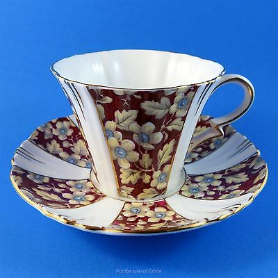 Royal Albert Art Deco Royal Brocade Chintz Panel Tea Cup and Saucer Set