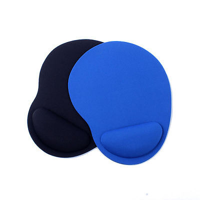 Black Comfort Wrist Thin Rest Support Mat Mouse Mice Pad Computer PC Laptop Soft