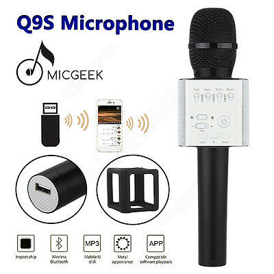 MicGeek Q9S Upgraded Wireless Microphone KTV Karaoke Black With Mic For Android