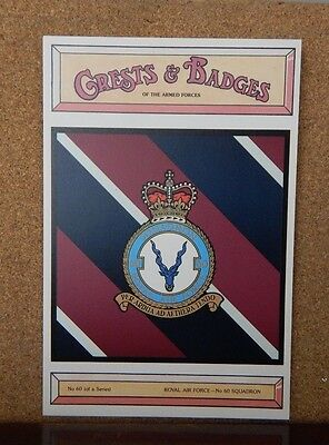 Royal Air force No 60 Squadron Crests & Badges of  the Armed services Postcard