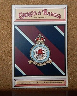 Royal Air force 614 Squadron Crests & Badges of  the Armed services sqaudron