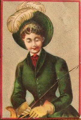 Victorian Trade Card of Lady Rider c1890