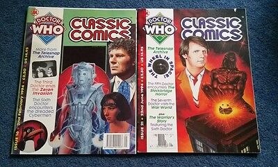 dr who classic comics #16 and #21