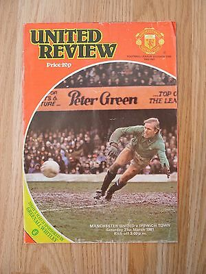 Manchester United v Ipswich Town 21/3/81