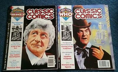 dr who classic comics #24 and #26